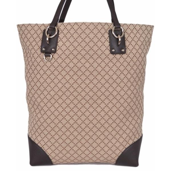 Gucci 353702 Beige Jacquard Diamante LARGE Purse Handbag Tote
