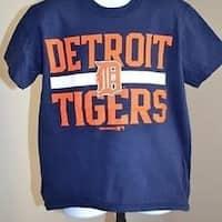f6aa80810 Shop - Mlb Detroit Tigers Youth Small S Navy Blue Shirt 41Lq - Free ...