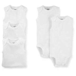 Carter's Unisex Baby Basic White Sleeveless Bodysuits
