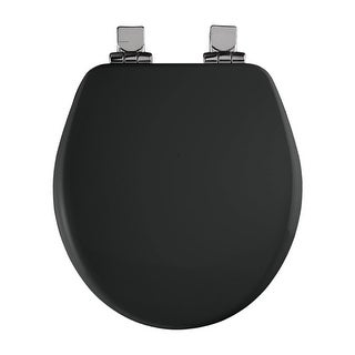 Bemis 9170CHSL Round Close-Front Toilet Seat with Chrome Hinges and Lid with Whisper-Close? and STA-TITE? Seat Fastening System? (2 options available)
