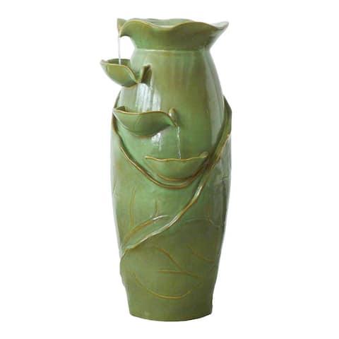 Design Toscano Ceramic Cascading Vines Garden Fountain