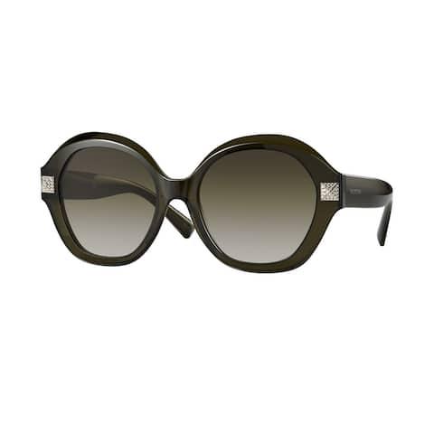 Valentino VA4086F 51788E 56 Transparent Green Woman Rectangle Sunglasses