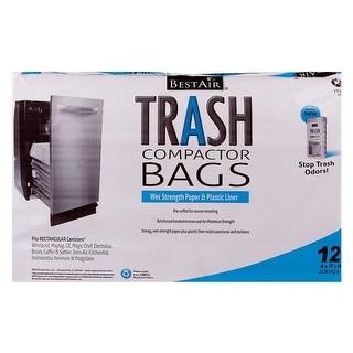 BestAir WMCK1335012-6 Trash Compactor Bags, 12 Bags