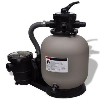 vidaXL Sand Filter Pump 600 W 4490 gal/h - grey