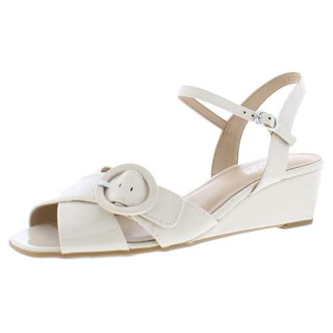 Aerosoles Womens Horent Wedge Heels Ankle Strap Strappy - Nude - 10 Medium (B,M)