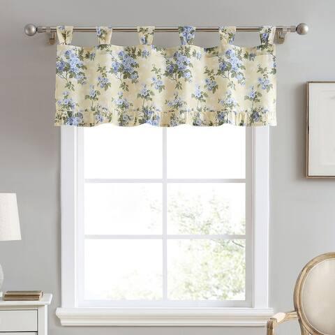 Laura Ashley Cassidy Cotton Yellow Window Valance - 50 x 20
