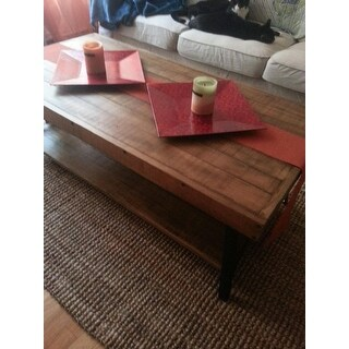 Emerald Chandler Reclaimed Look Wood Cocktail Table Free