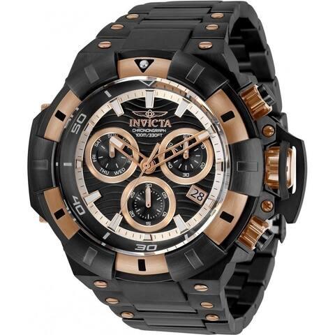 Akula Chronograph Quartz Black Dial Men's Watch - N/A