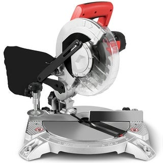 Costway 8'' Compound Miter Saw Single Bevel Sliding Glide 2HP 11Amp 5500RPM Electric Tool - as the picture shows