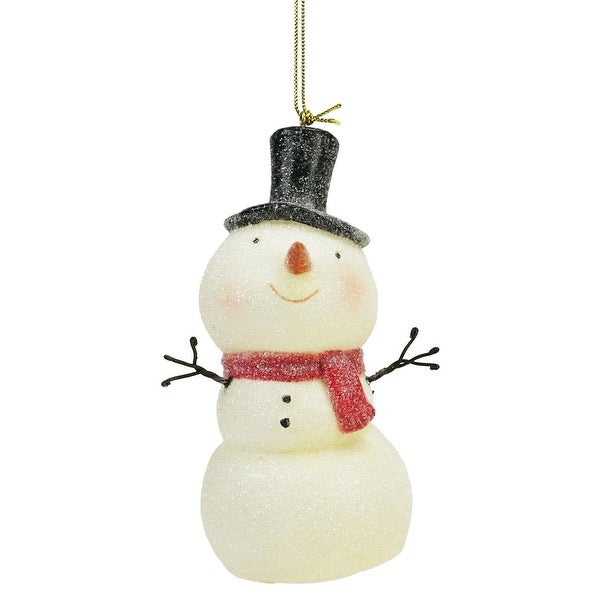 "5"" Sweet Memories Lighted Musical Frosted Snowman Christmas Ornament"