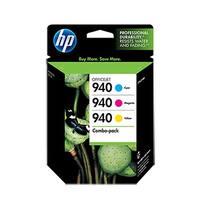 HP 940 Multi-Color Original Ink Cartridges-3 Cartridges (CN065FN)(Single Pack)