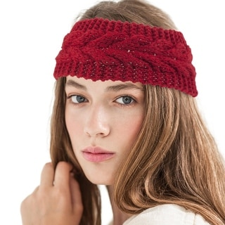 Zoadaca Women Winter Warm Knit Crochet Headband for Ski/ Snowboarding