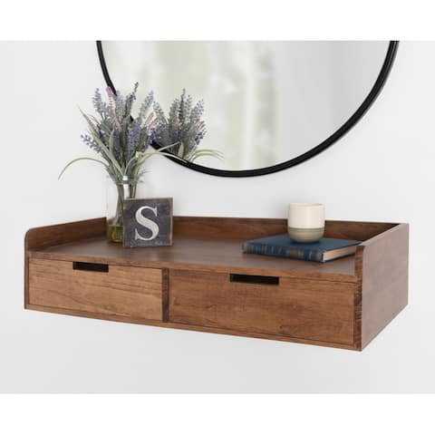 Kate and Laurel Kitt Floating Shelf Console Table - 28x12x6.5