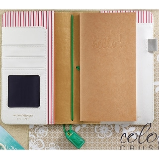 """Color Crush Faux Leather Travelers' Planner 5.75""""X8""""-Summer Green"""