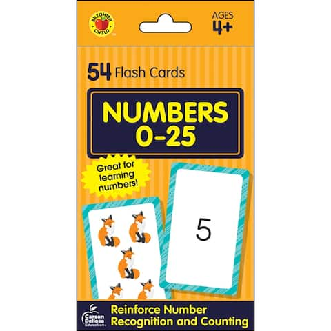 Brighter child numbers 0-25 flash cards 734085