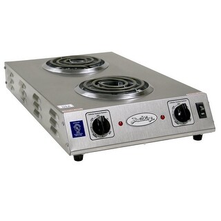 BroilKing CDR-1TFBB Professional Double Burner Space Saver Range, Stainless Steel - STAINLESS STEEL