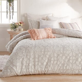 Link to Cameryn Floral Clipped Jacquard Comforter and Sham Set Similar Items in Comforter Sets