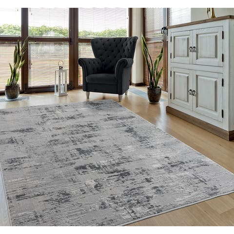 Porch & Den Reusser Hi-low Abstract Striation Area Rug