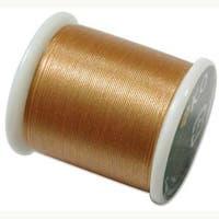 Japanese Nylon Beading K.O. Thread for Delica Beads - Gold 50 Meters
