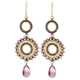 Beaded Statement Earrings featuring Swarovski Crystals - Blooming Romance - Exclusive Beadaholique Jewelry Kit