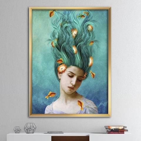Designart 'Sweet Allure' Modern & Contemporary Framed Art Print