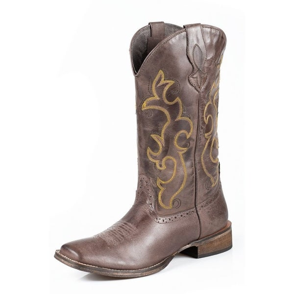 Roper Western Boots Womens Lindsey Leather Brown