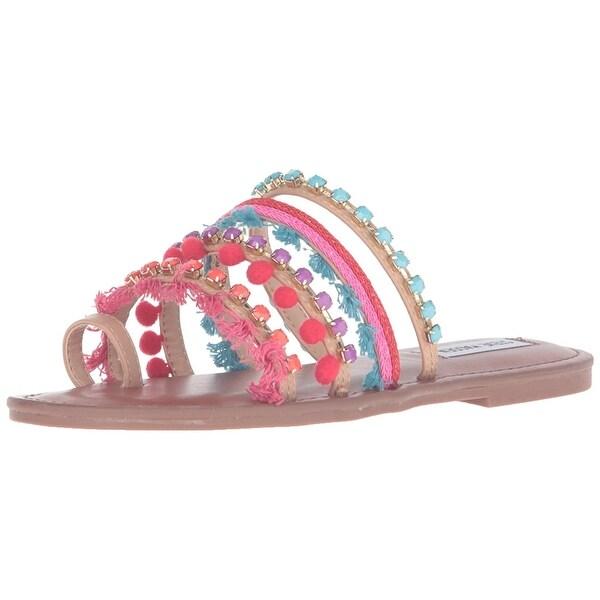 Steve Madden Womens Gypsy Open Toe Casual Slide Sandals
