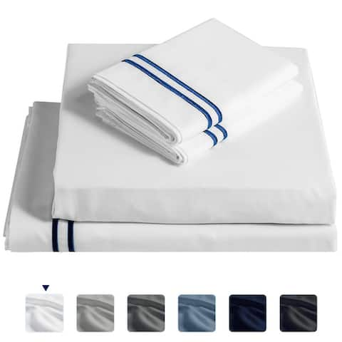 Subrtex Soft Wrinkle Resistant 4-piece or 3-piece Tencle Bed Sheet Set