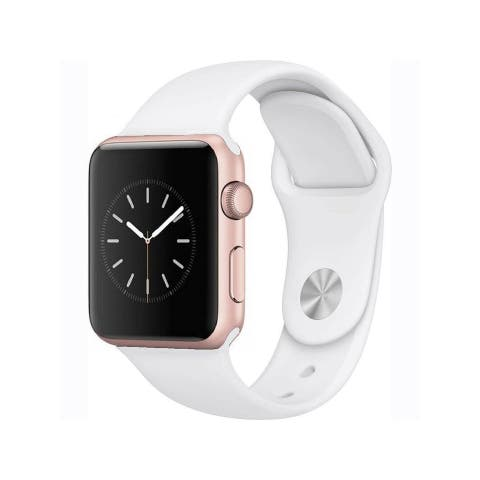 Apple Watch Series 2 38mm Rose Gold Aluminum Case & White Band (Refurbished)