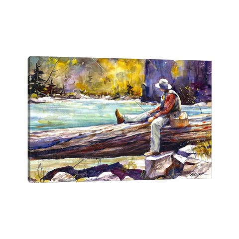 "iCanvas ""Fishing Time"" by Dean Crouser Canvas Print"