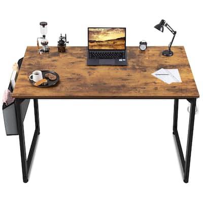 43 Inch Office Desk Modern Computer Writing Desk with Storage