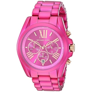 Link to Michael Kors Women's MK6719 Bradshaw Pink Stainless Steel Watch - One Size Similar Items in Women's Watches