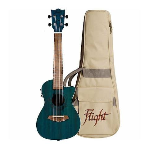 Flight Topaz Acoustic Electric Concert Ukulele w/ Gigbag DUC380CEQTOP