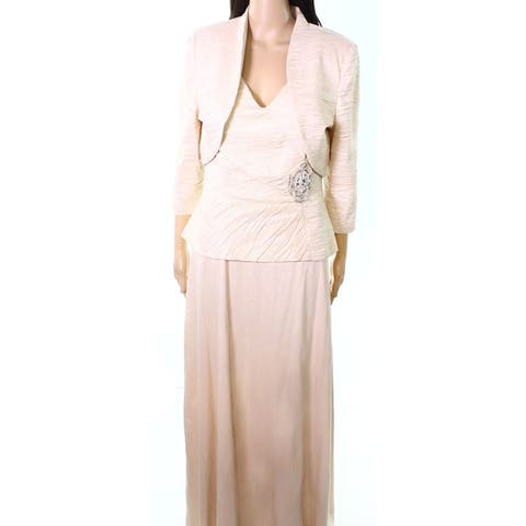 18d532c71f6 Jessica Howard Peach Pink Women s Size 12 2PC Textured Gown Dress