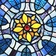 """River of Goods 19.5""""H Chartres Cathedral Stained Glass Window Panel - 19.5"""" x 0.15"""" x 19.5"""" - Thumbnail 5"""