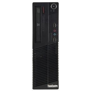 Lenovo M70E Desktop Computer SFF Intel Core 2 Duo E8400 3.0G 4GB DDR3 320G Windows 10 Pro 1 Year Warranty (Refurbished) - Black