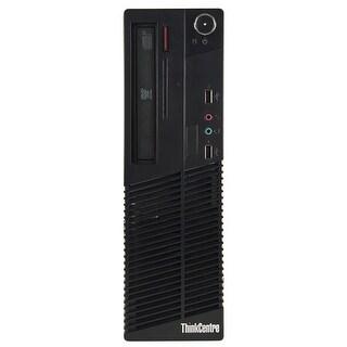 Lenovo M70E Desktop Computer SFF Intel Core 2 Duo E8400 3.0G 8GB DDR3 1TB Windows 7 Pro 1 Year Warranty (Refurbished) - Black