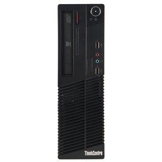 Lenovo M70E Desktop Computer SFF Intel Core 2 Quad Q6600 2.4G 8GB DDR3 2TB Windows 7 Pro 1 Year Warranty (Refurbished) - Black