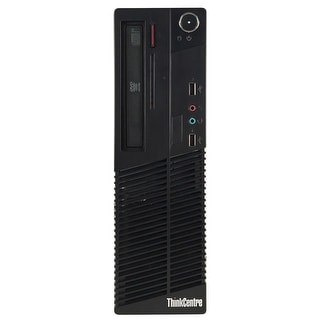 Lenovo M70E Desktop Computer SFF Intel Core 2 Quad Q8200 2.33G 8GB DDR3 1TB Windows 10 Pro 1 Year Warranty (Refurbished) - Black