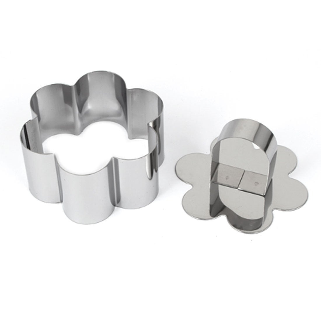 3PC Silver Flower Cookies Cutter Pastry Biscuit Cake Decorating Mold Mould Tools