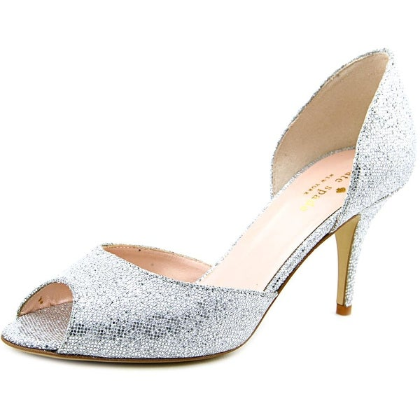 Kate Spade Sage Women  Open-Toe Synthetic Silver Heels
