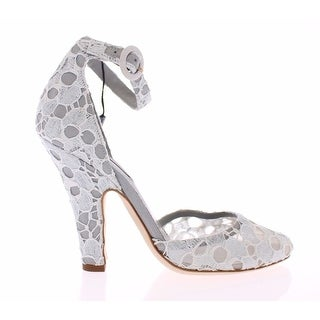 Dolce & Gabbana Blue Floral Heel Mary Janes Pumps Shoes - 39