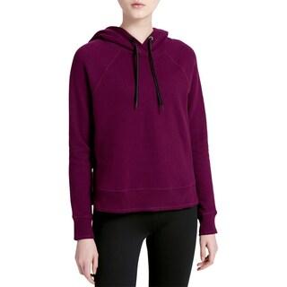 Calvin Klein Performance Womens Hoodie Fleece Contrast Trim (Option: Merlot - S)