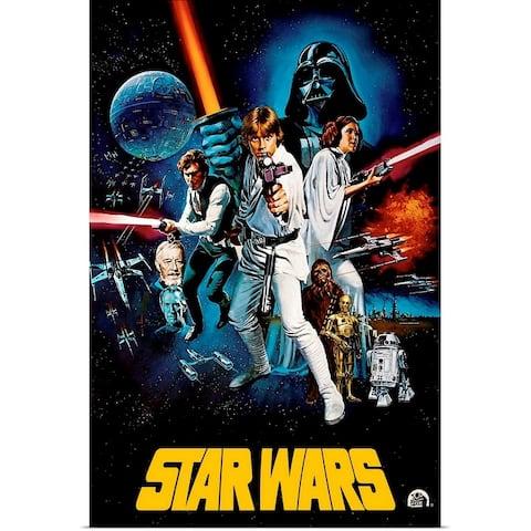 """Star Wars (1977)"" Poster Print"