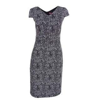 Betsey Johnson Women's Metallic Textured Sheath Dress - Black/silver (3 options available)