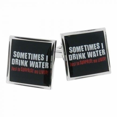 Sometimes I Drink Water Cufflinks
