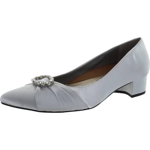 Walking Cradles Womens Harmony 2 Dress Heels Embellished Low Heel - Silver