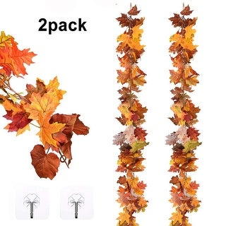 12Ft 6ft/pc Fall Garland Fall Maple Leaves