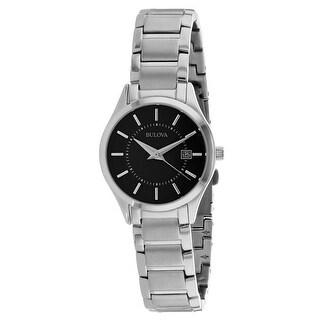 Bulova Women's Classic Black Dial Watch