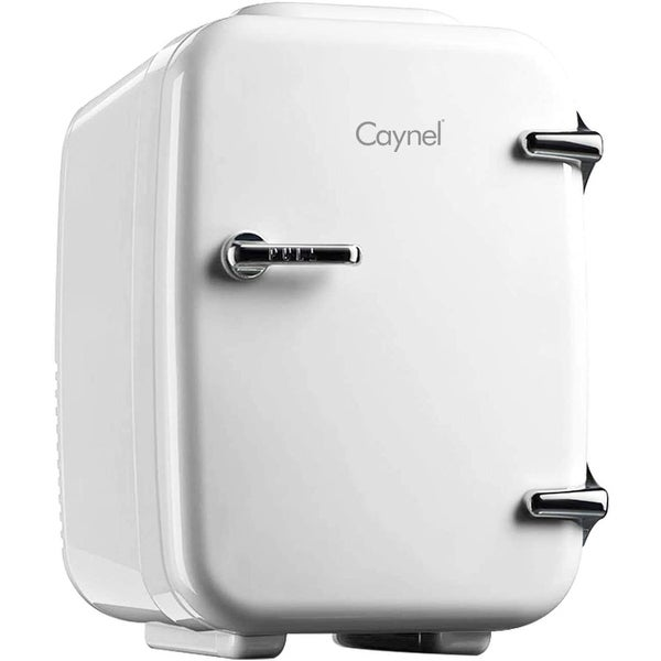 Caynel 4-Liter Portable Mini Fridge for Home, Office and Car, AC/DC Thermoelectric System. Opens flyout.